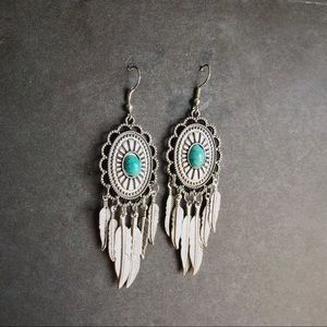 Jewelry - Silver Turquoise Earrings